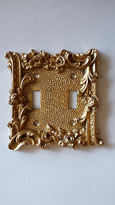Vintage Brass Wall Switch Plate