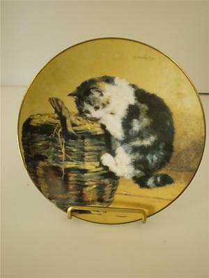 Cat Plate Victorian Cat Capers A Curious Kitty