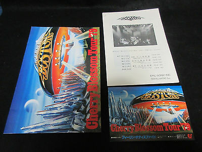 Boston Japan Promo Press Release in Sleeve for Their Japan Tour 1979 Tom Scholz
