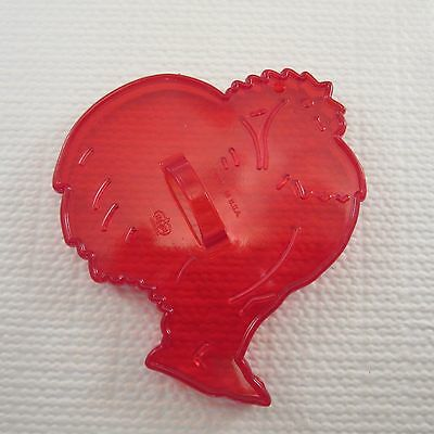 HRM Red Plastic Cookie Cutter - ROOSTER
