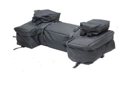 Atv Quad Rear Rack Storage Luggage Bag Universal Black