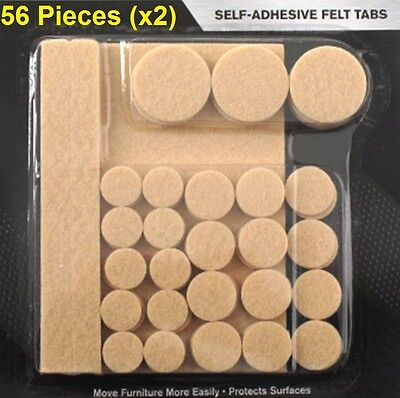 Furniture Felt 112Pcs Slide Protect Chair Floor Wood Tile Metal Adhesive Strips