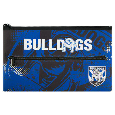 Canterbury Bulldogs NRL Large Neoprene Team Colour and Logo Pencil Case