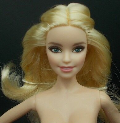 2016 Barbie NUDE Holiday Model Muse Doll Blue Green Eyes Blonde Hair For OOAK