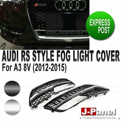 RS3 HONEYCOMB SPORT FRONT FOG LIGHT LAMP GRILL COVER for AUDI A3 8V 2012-2015