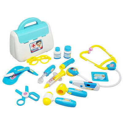 Gift Kids Boys&Girls Doctor Nurses Toy Medical Set Role Play Kit With Carry Case