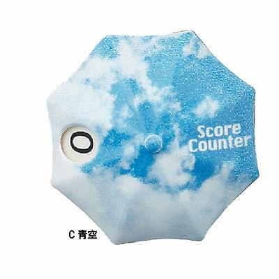Golf Accessories Stroke Counter Hand Number Clicker Score Portable sky blue