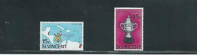 St Vincent 1976 West Indian Victory in World Cricket Cup SG 492/3 MUH