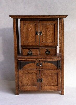 D/house Miniature Beautiful Apothecary Cupboard 1/12th  - Resell OOAK