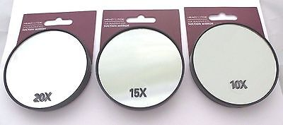 Magnification Mirror 10x 15x 20x Suction Cups Makeup Eye Brows Plucking Closeup
