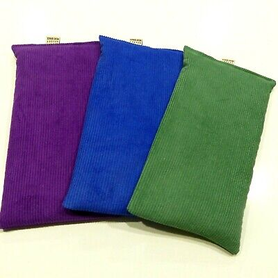 Wheat Bags. Heat packs  x 3 BULK PACK. Pink, Peacock Blue and Purple Unscented