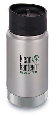 New KLEAN KANTEEN Insulated Wide 12oz 355ml BRUSHED STAINLESS BPA Free Water Bot