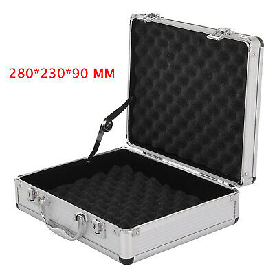 Aluminium Pistol Gun Case Storage Lockable Flight Case Foam Tool Box Secured UK