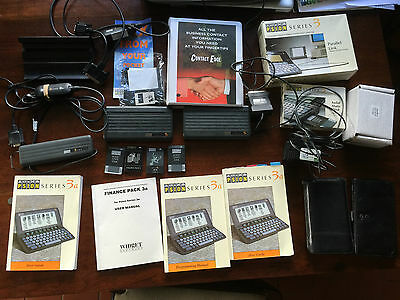 Psion 3A collection 4mb solid state flash drives link fax manuals bundle