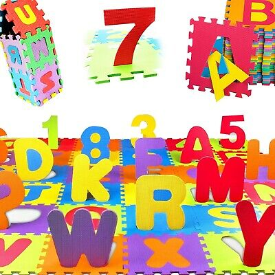 New 36Pcs Baby Kids Children Soft Foam Alphabet Puzzle Play Mat Set - See Sizes