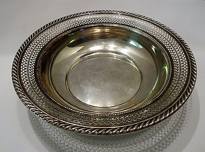 REDUCED Gorham Sterling Silver Bowl Dish Pierced Open Work Early 1900s NO RESERV