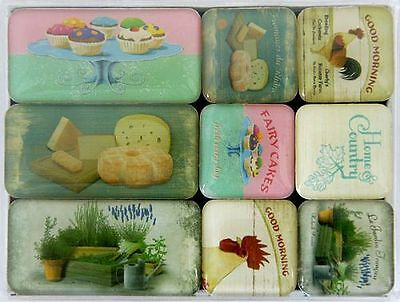 Magnet-Set 9tlg. ´Home & Country´