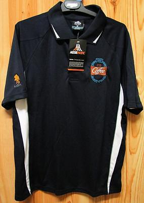 Farmers Union Iced Coffee Embroidered Aussie Pacific Size M Pol Shirt - New Tags