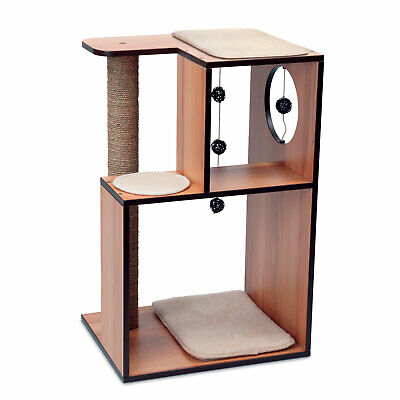 Vesper V-Box - Large - Compact Adventure World for Cats - Walnut or White