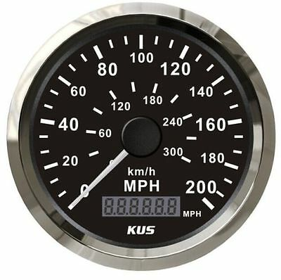 300 km/h Car Stainles Black Face GPS Speedometer 200MPH Motor Digital Gauges