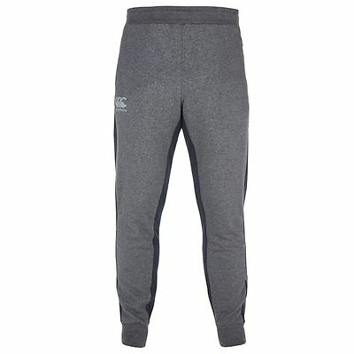 Canterbury Tapered Fleece Reflective Pants Mens Sports Tracksuit Bottoms