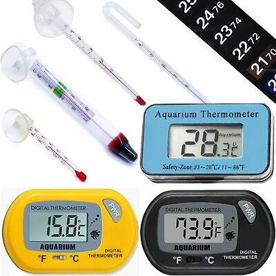 Thermometers For Aquarium Fish Tank Terrarium Fridge Freezer Digital Glass NEW