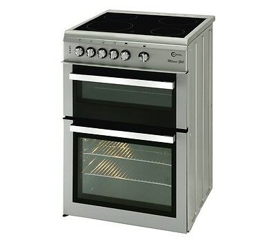 FLAVEL Milano ML61CDS Electric Ceramic Cooker Silver & Chrome 65 Litres Fan