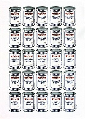 Soup Cans, A Fantastic Work By Banksy, Plate Signed