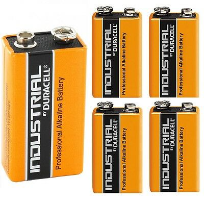 Duracell Industrial 9V PP3 MN1604 Block Alkaline Batteries Replaces Procell