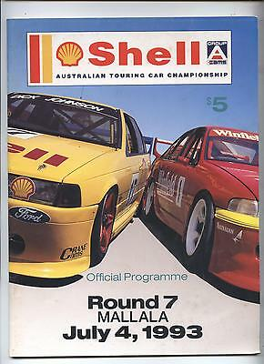 1993 Mallala Programme Shell Touring Racing Ford Holden Commodore Corolla