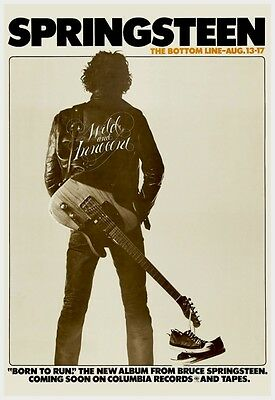 Bruce Springsteen POSTER Live at the Bottom Line NYC VINTAGE Image
