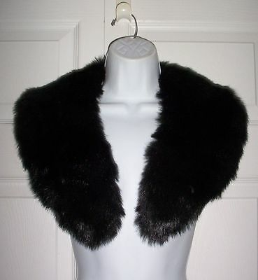 "Wide Collar Black Faux Fur Apparel Accessory 39"" for Long Coat Jacket Sweater"