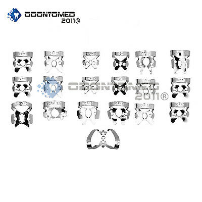 ODM 19 Pcs. Endodontic Rubber Dam Clamps Dental Orthodontic Instrument
