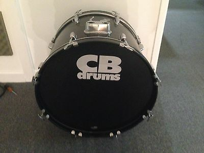 """Go Double! 22"""" CB Bass Drum In Gloss Black Wrap For Drum Kit"""