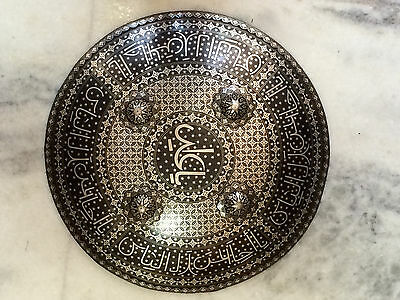 Hand crafted 16 inches Indo persian war shield heavy steel made silver worked