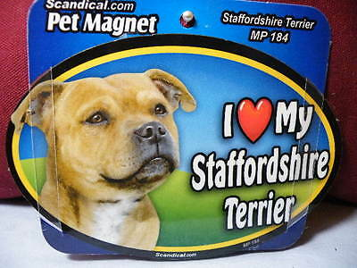 I Love My Staffordshire Terrier Mp 184 Pet Magnet Scandical