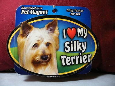 I Love My Silky Terrier Mp 182 Pet Magnet Scandical