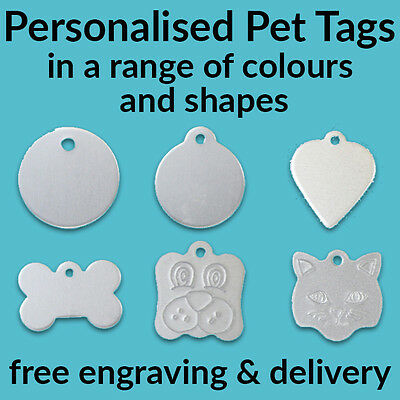 Custom Personalised Pet Tags - Free Engraving - Free Delivery