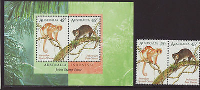 Australia 1996 MNH - Cuscus - Animals - Joint issue with Indonesia - m/s, stamps