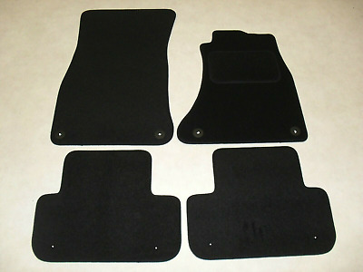 Audi A4 2016-on Fully Tailored Car Floor Mat Set in Black - 8 Fixings