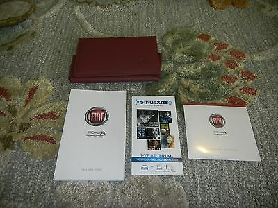 2016 Fiat 500 Owners Maual Set + Free Shipping