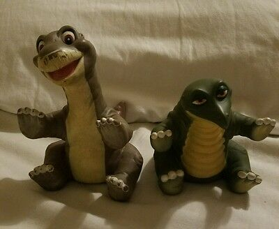 Vintage Pizza Hut 1988 The Land Before Time Little Foot Spike Rubber Toy Puppets