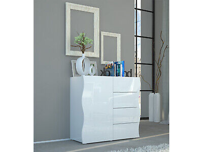 hochglanz sideboard in weiss vitrine kommode anrichte. Black Bedroom Furniture Sets. Home Design Ideas