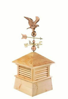 "30"" Square Kent Wood Cupola with Standard American Eagle"