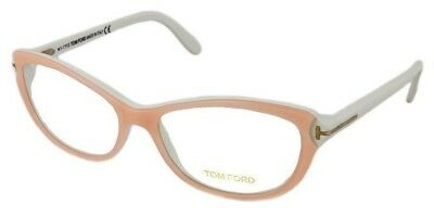 tom ford ft5286 tf5286 072 pink white 52mm rx able womens eyeglasses frame