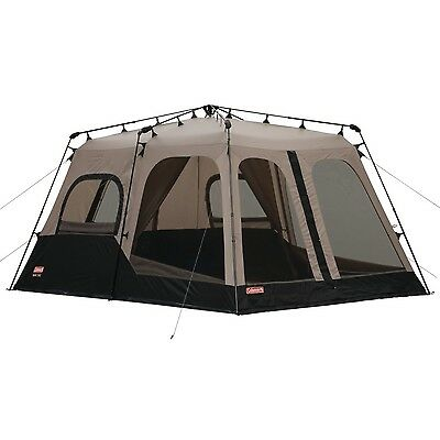 Coleman 2000018295 8-Person Instant Tent Black (14x10 Feet) Brown New