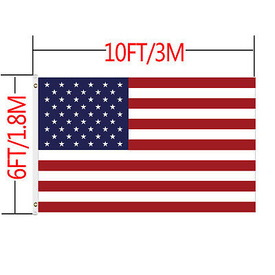 6'x10' FT USA US U.S. American Flag Sewn Stripes Embroidered Star Brass Grommets