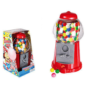 Kids Gumball Dispenser Machine Toy With Bubble Gum Party Bag Coin Operated Fun