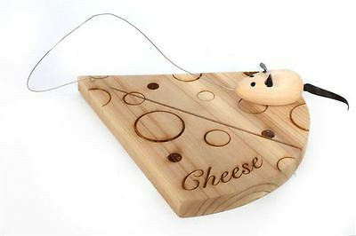 Wooden Cheese Board Mouse Kitchen Cooking Serving Chopping Slicing Bread Gift