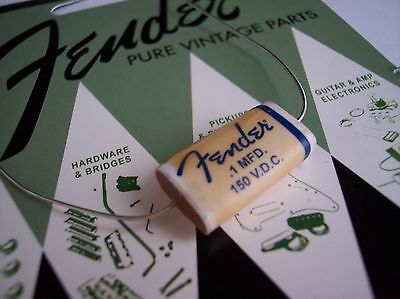 Genuine Fender Pure Vintage Wax Paper Capacitor .10uf @ 150v Strat Tele 50's 60'
